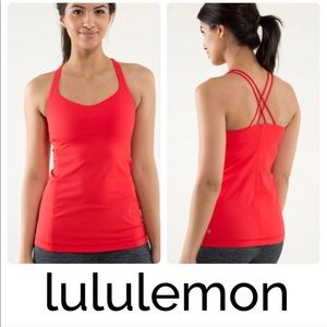 Lululemon red strappy Tank